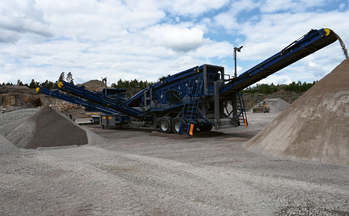 Ls 1203, mobile screening plant